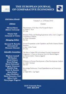 The European Journal of Comparative Economics